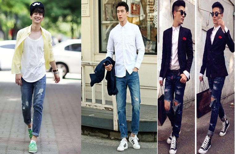 Cách mặc quần jean nam rách đẹp - 4