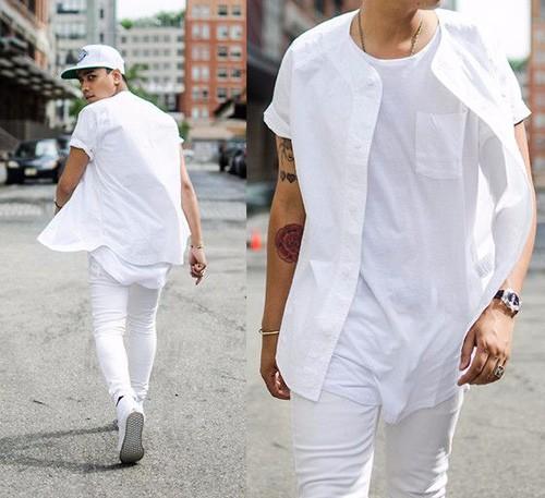 Cách diện đồ trắng chuẩn men dành cho nam - 1