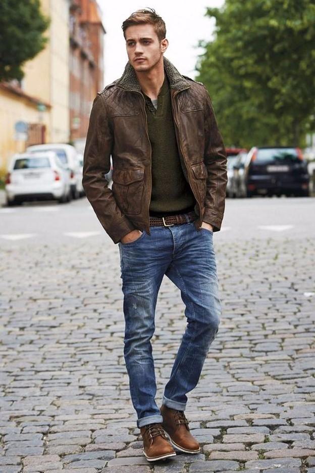 Bí kíp diện quần jean và áo khoác da nam đẹp trong ngày đông - 6