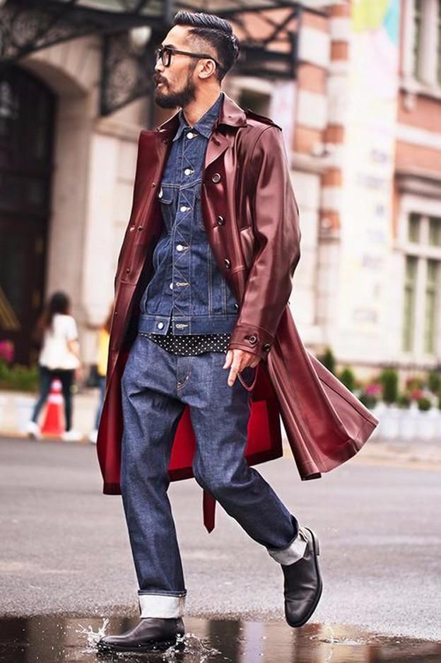 Bí kíp diện quần jean và áo khoác da nam đẹp trong ngày đông - 7