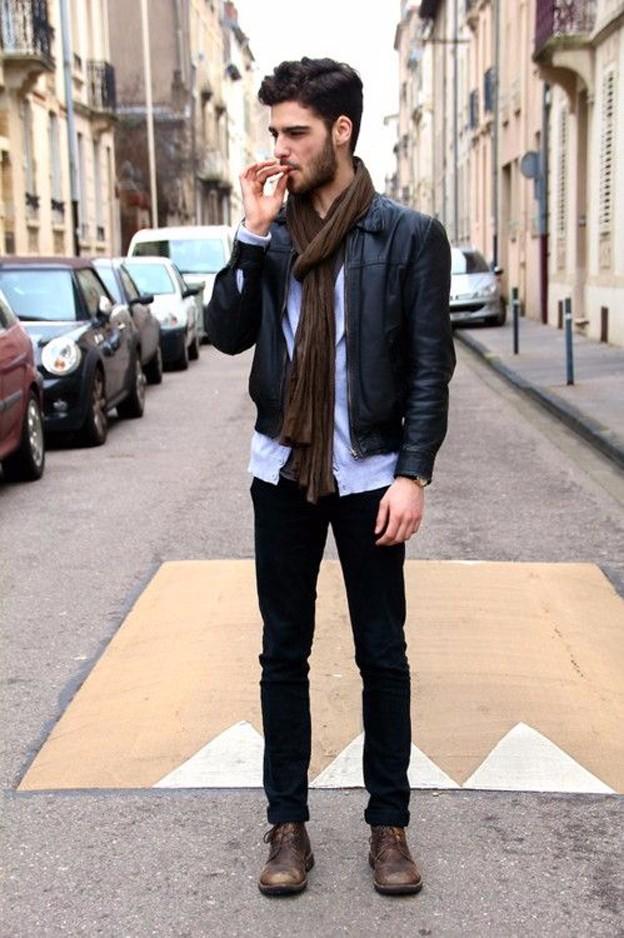 Bí kíp diện quần jean và áo khoác da nam đẹp trong ngày đông - 5