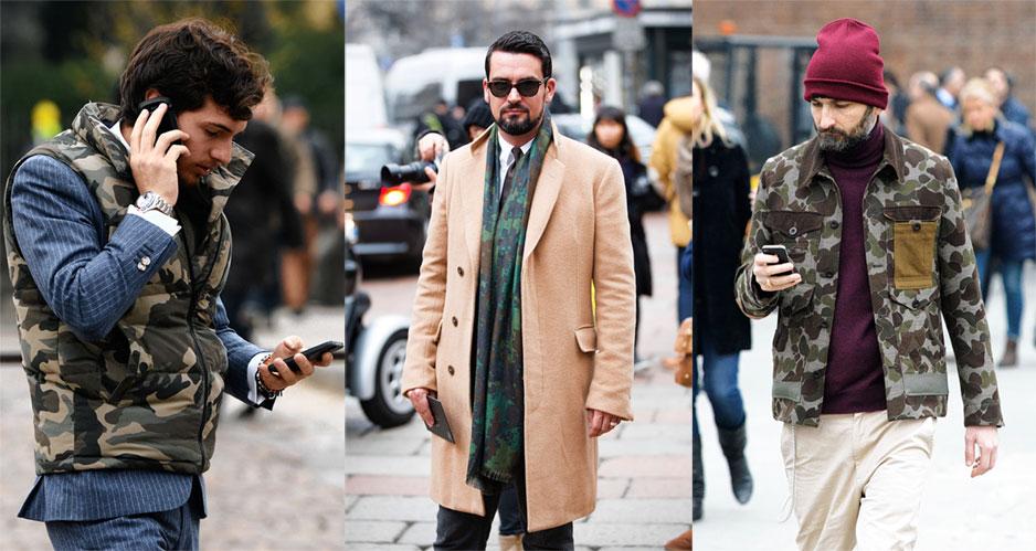 Cách diện thời trang nam camo mạnh mẽ trong mùa đông - 1