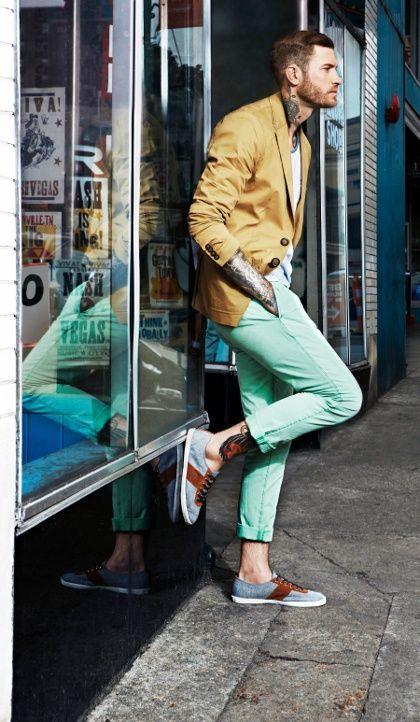 Cách diện đồ nam màu xanh bạc hà - 4