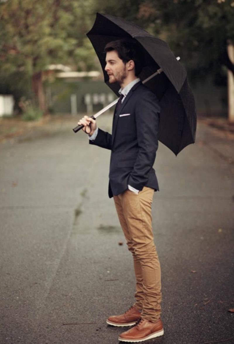 Mẹo mặc quần áo ngày mưa dành cho các quý ông - 3