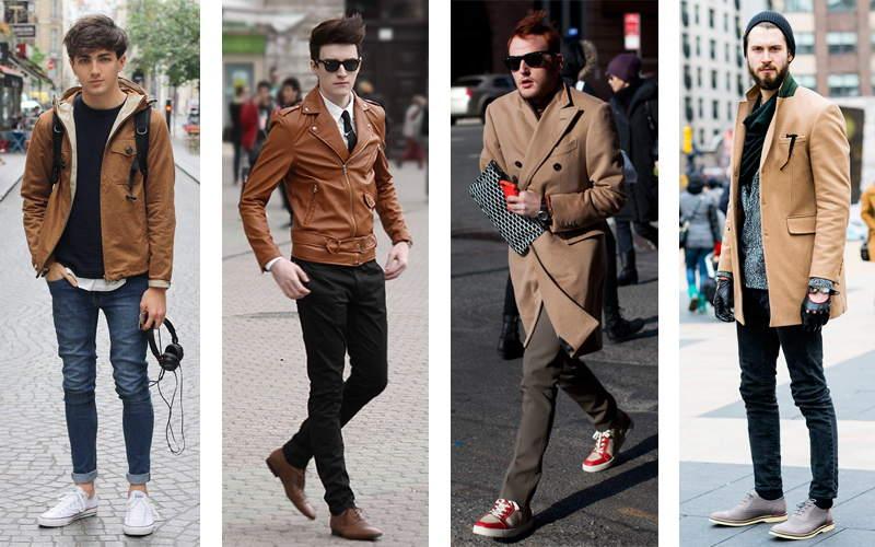 Diện thời trang nam thu đông cùng màu camel - 1