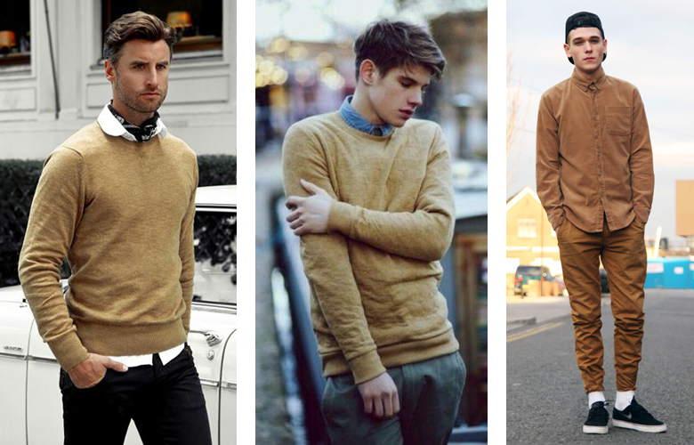 Diện thời trang nam thu đông cùng màu camel - 2