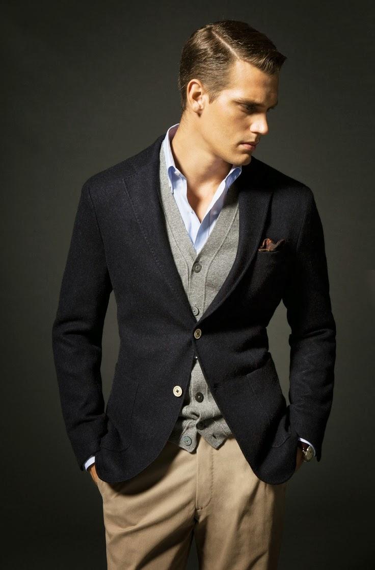 Cách mix đồ nam với vest xanh đen và xanh đậm - 2