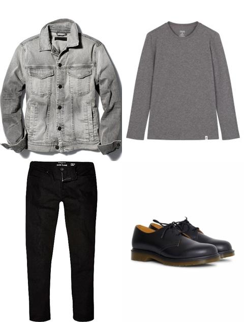Cách phối màu áo khoác jean nam sành điệu - 1