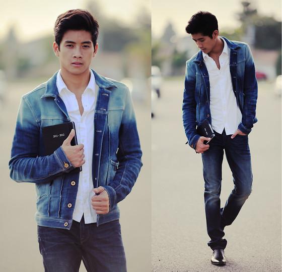 Cách phối đồ cùng áo khoác jean nam cực kỳ phong cách - 3