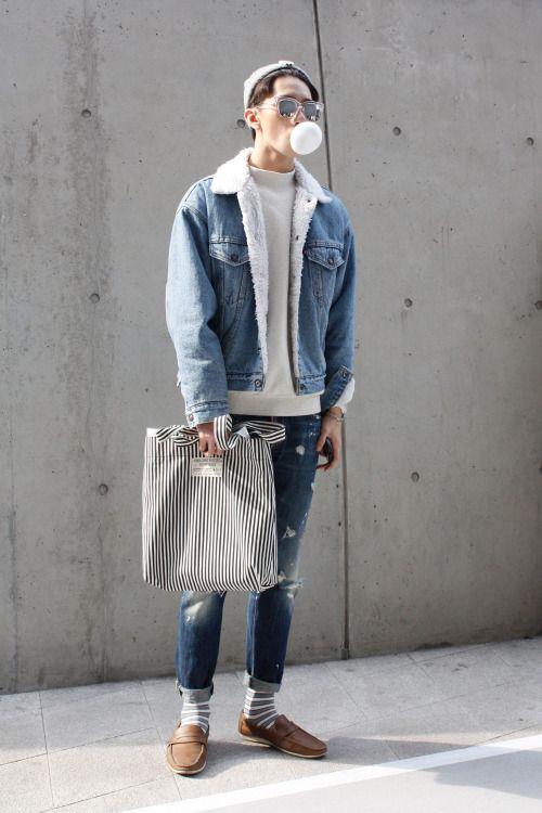 Cách phối đồ cùng áo khoác jean nam cực kỳ phong cách - 6