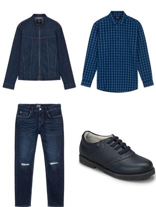 Cách phối màu áo khoác jean nam sành điệu - 3