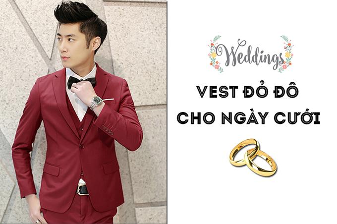 Vest đỏ đô sang trọng cho ngày cưới - 2