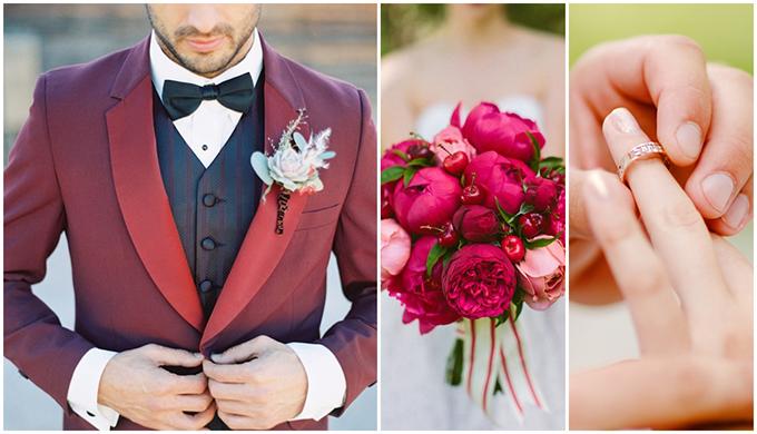 Vest đỏ đô sang trọng cho ngày cưới - 1
