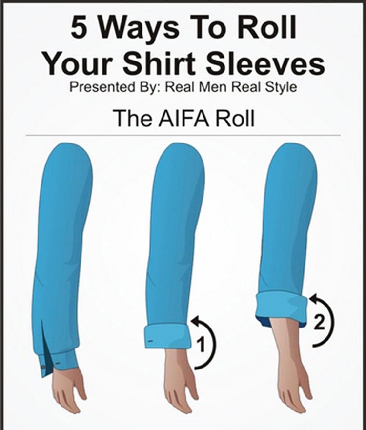 Những cách xắn tay áo sơ mi đẹp cho nam giới - 1