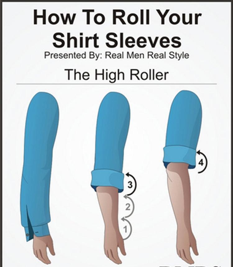 Những cách xắn tay áo sơ mi đẹp cho nam giới - 3