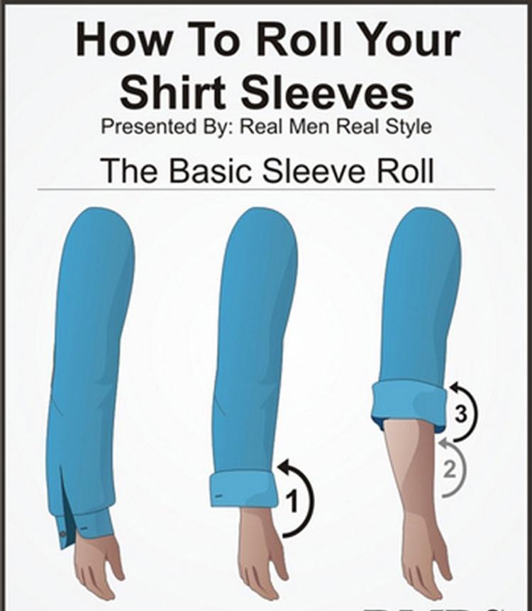 Những cách xắn tay áo sơ mi đẹp cho nam giới - 2
