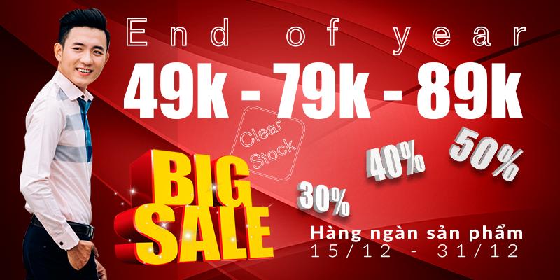 Clear stock end year - sale siêu cấp chỉ từ 49k - 1