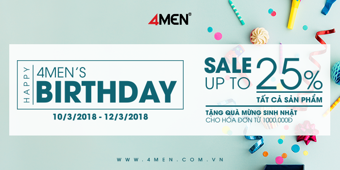 8th birthday 4men sale up to 25 - 1