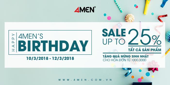 8th birthday 4men sale up to 25 - 1