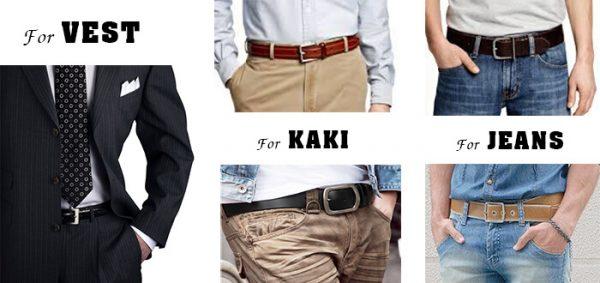 Cách lựa thắt lưng nam phối cùng vest quần kaki quần jean - 2