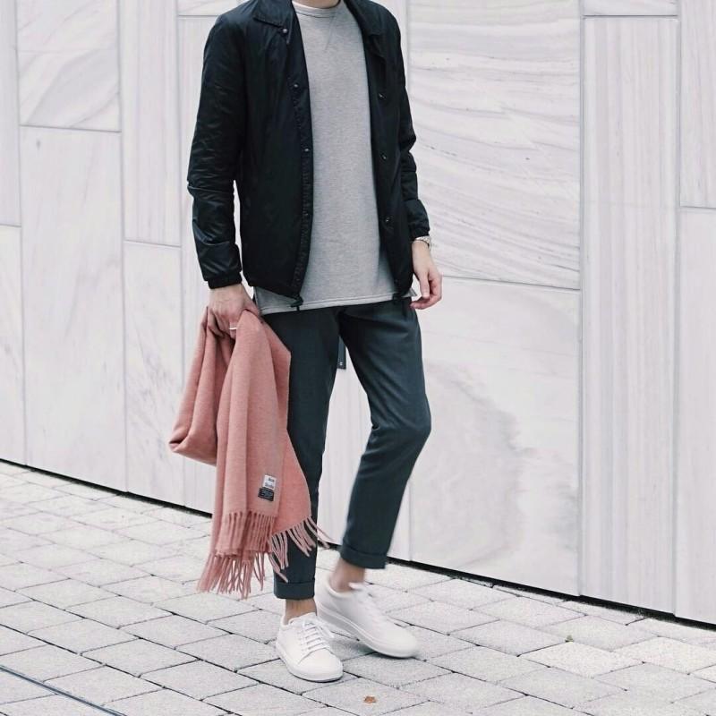 Mặc đẹp cùng phong cách basic nam - 2