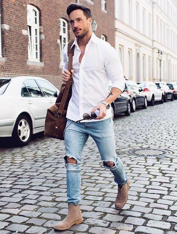 Cách phối đồ cùng áo sơ mi nam trắng - 2