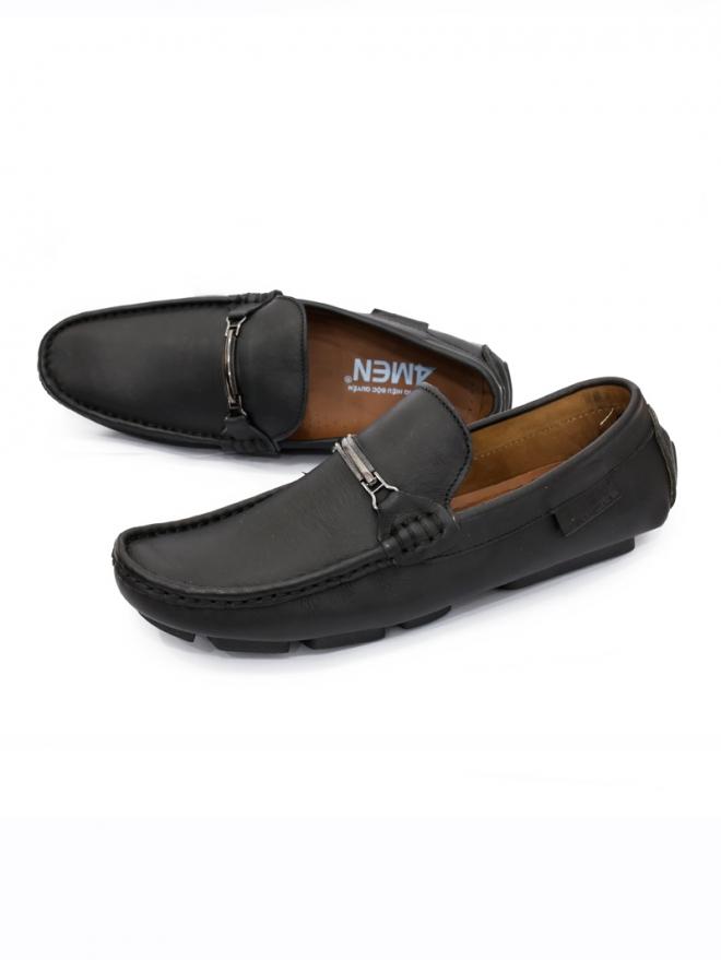 Giày Mọi Da Đen G59