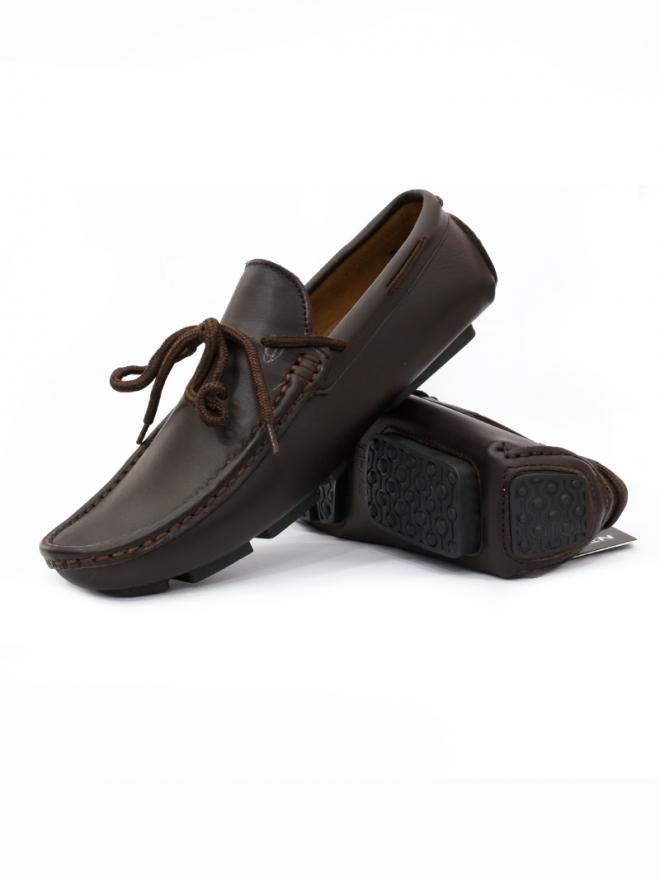 Giày Mọi Da Nâu G25