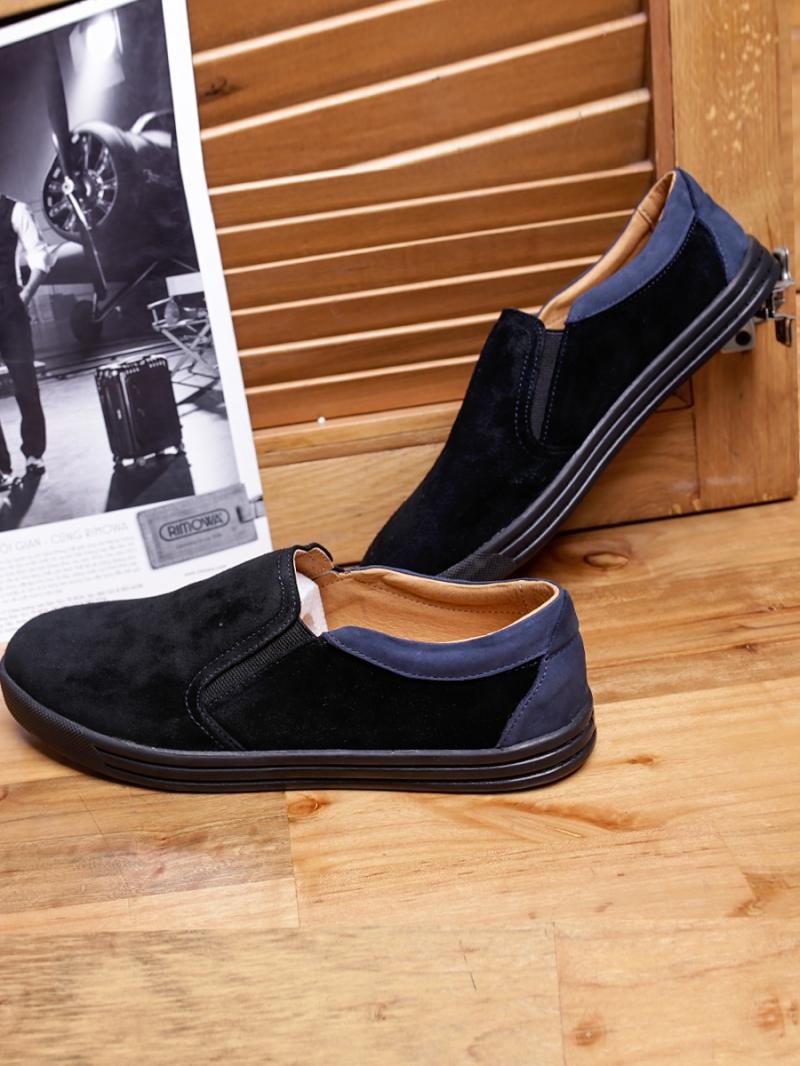 Giày Mọi Da Lộn Đen G95