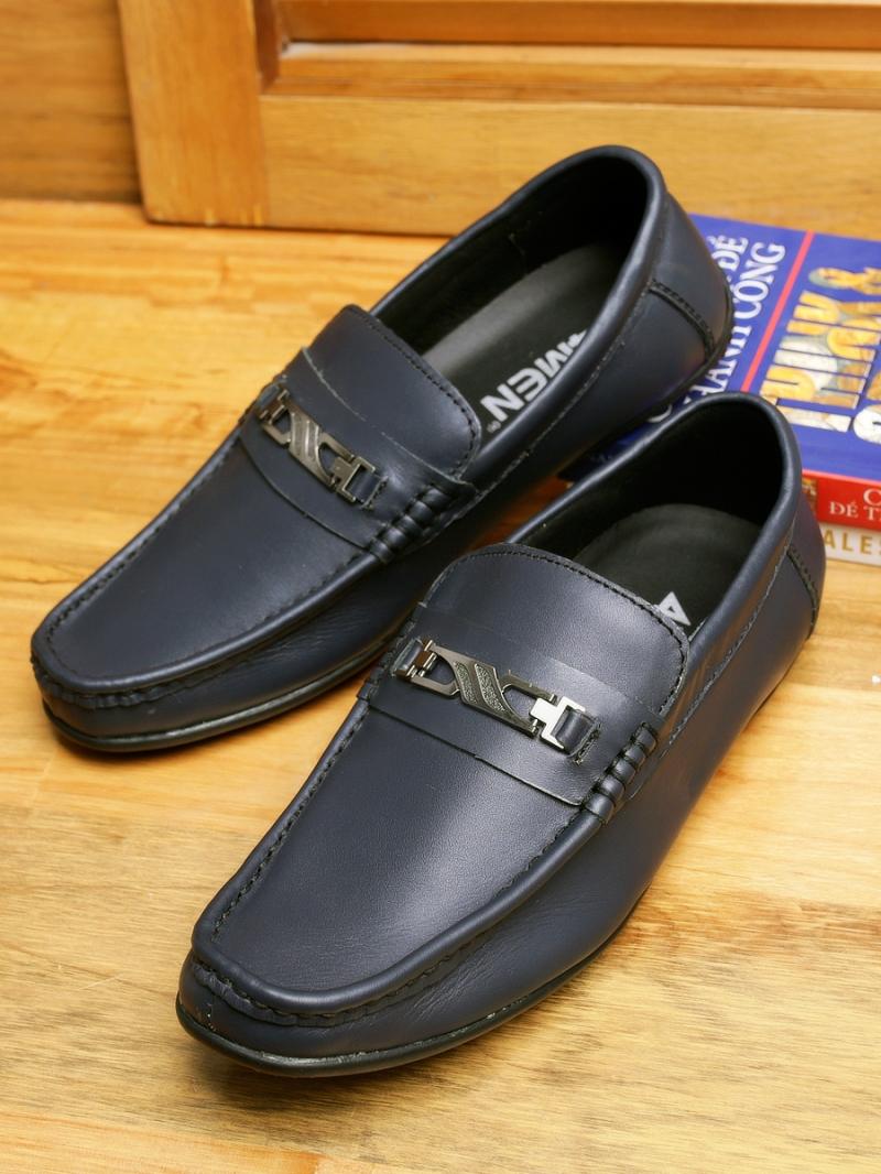 Giày Mọi Da Xanh Đen G89
