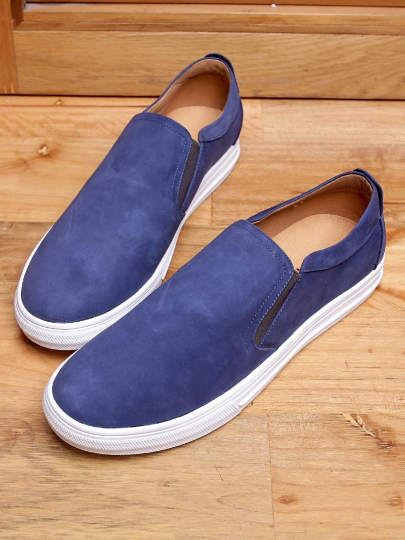 Giày Mọi Da Lộn Xanh G96