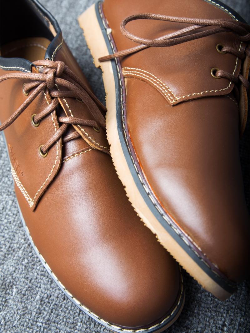 Giày Cột Dây Thời Trang Bò Đậm G111
