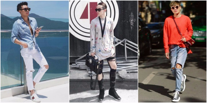 Học cách phối quần jean rách nam của các Stylist Việt nổi tiếng
