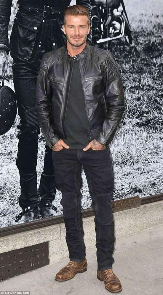 Bí kíp diện quần jean và áo khoác da nam đẹp trong ngày đông
