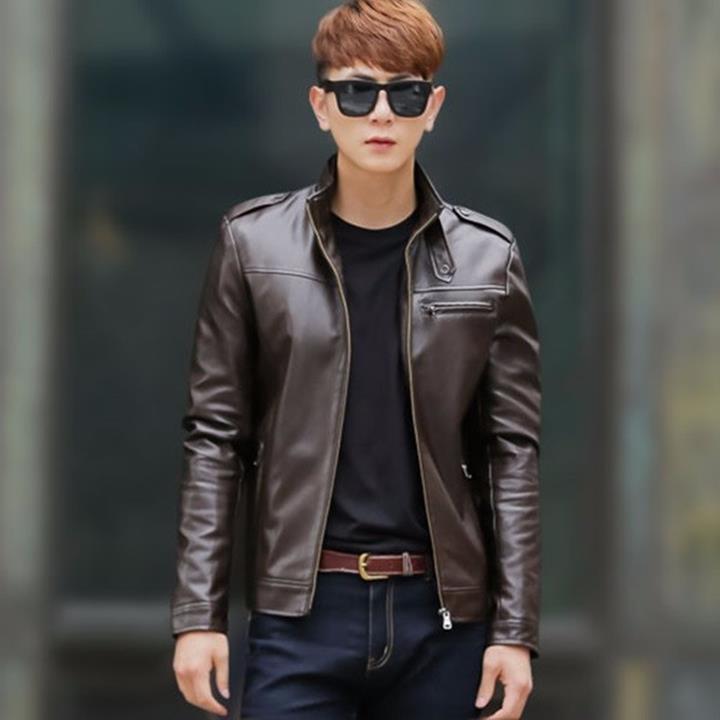 Những mẫu áo khoác da nam hot nhất 2017