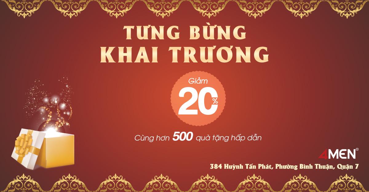Tưng bừng khai trương 4MEN 384 Huỳnh Tấn Phát
