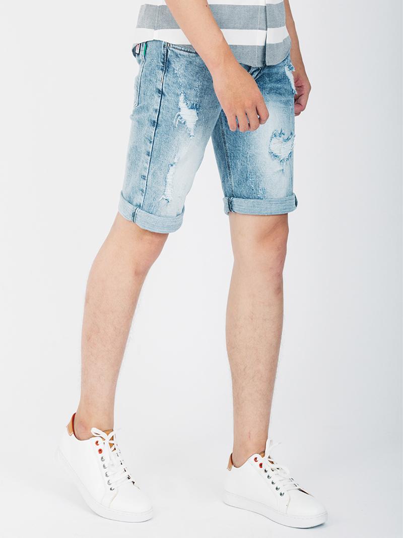 Quần Short Jean Màu Bạc QS103
