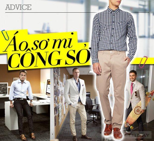 Những điều nên biết khi mặc áo sơ mi công sở dành cho các quý ông