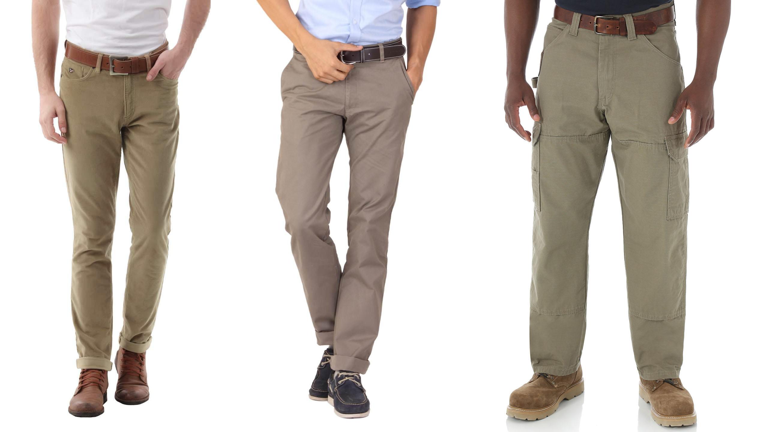 Những kiểu quần kaki nam thịnh hành hiện nay