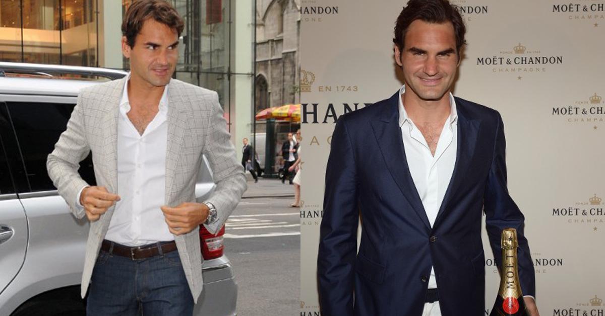Học cách diện vest của Roger Federer.
