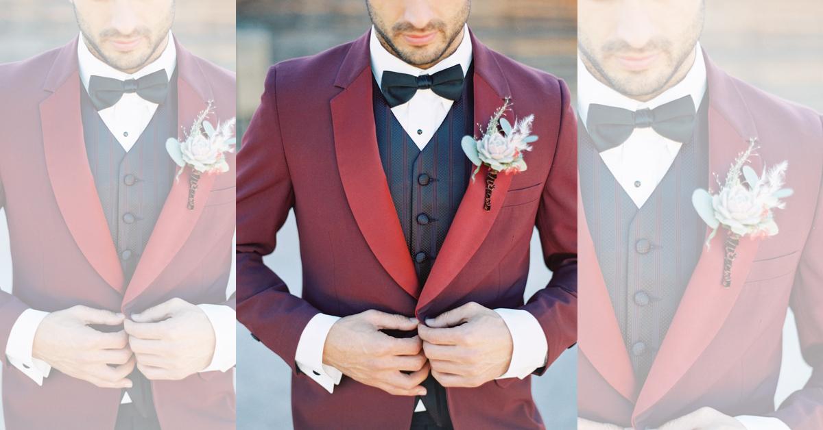 Vest đỏ đô sang trọng cho ngày cưới