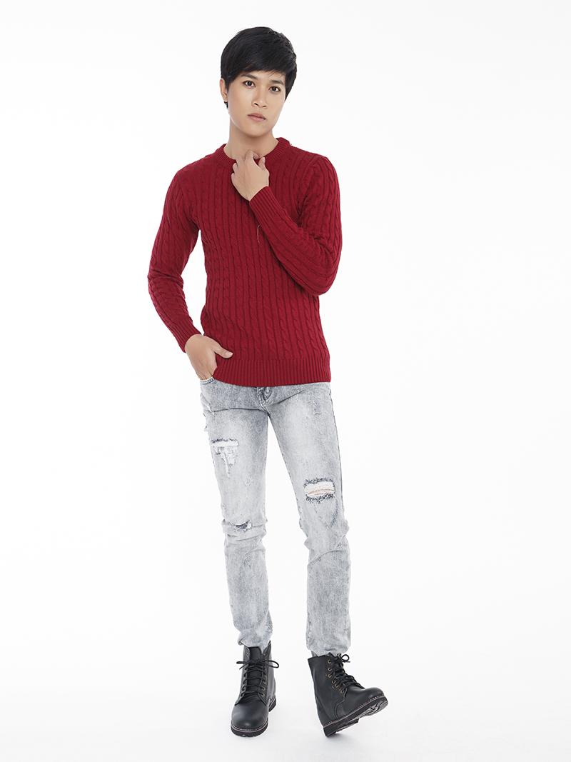 Quần Jeans Rách Xám Chuột QJ1548