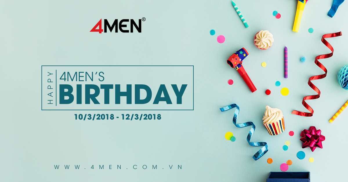 8TH BIRTHDAY – 4MEN SALE UP TO 25%