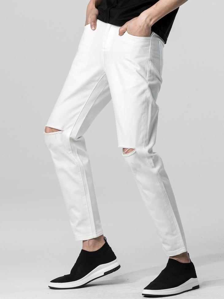 Quần Jeans Rách Trắng QJ1395