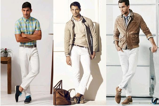 Cách phối đồ với quẩn jean nam trắng trong mùa hè