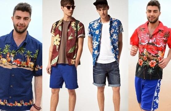 Những mẫu áo sơ mi nam đi biển trong hè 2018 tại 4men