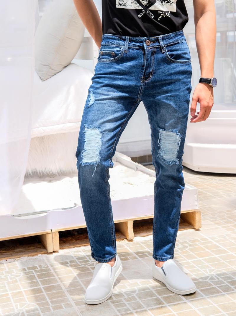 Quần Jeans Rách Xanh Đen QJ1566