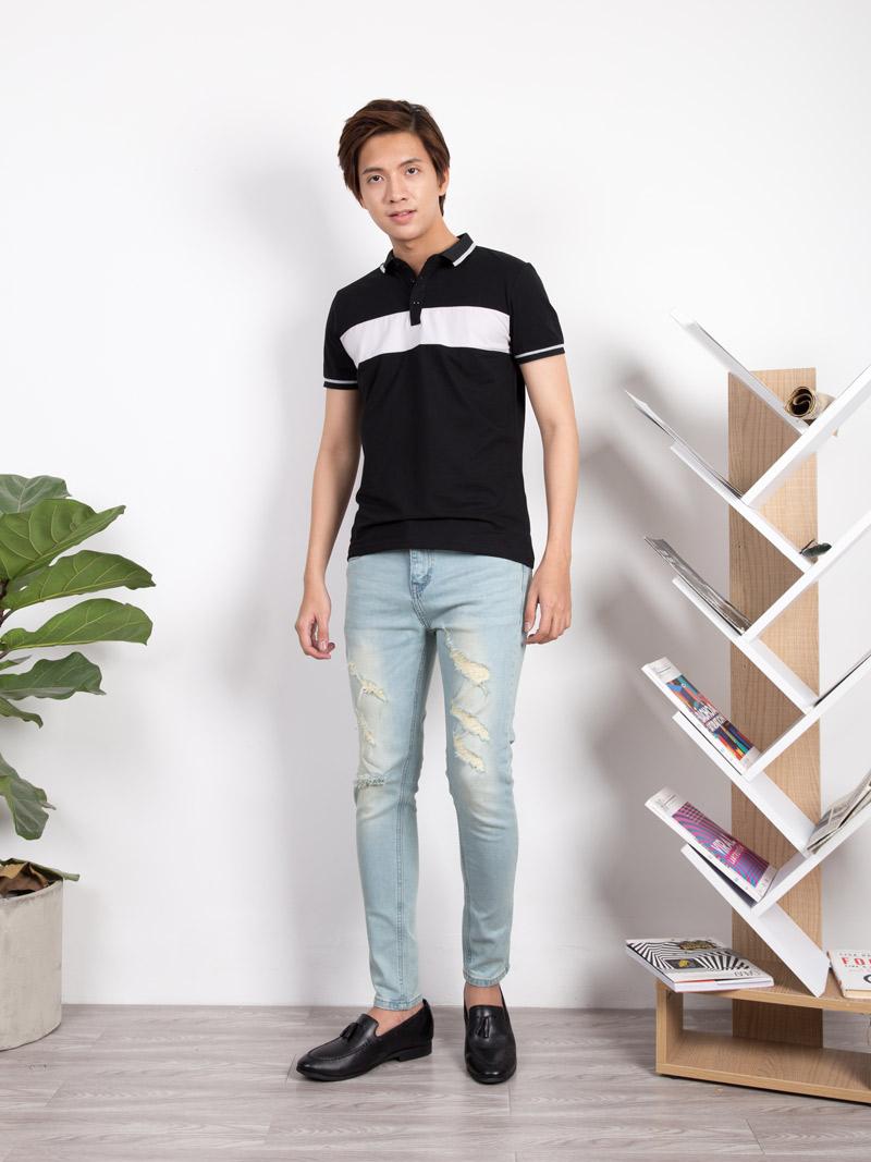 Quần Jeans Rách Xanh Biển QJ1635