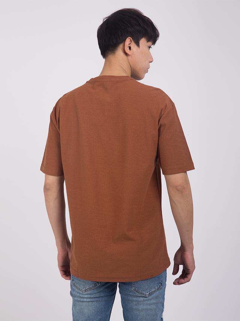 Áo Thun Ngực In Chữ Màu Nâu AT861