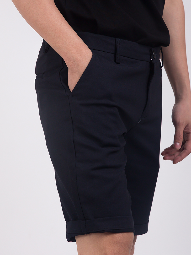 Quần Short Slimfit Màu Đen QS198